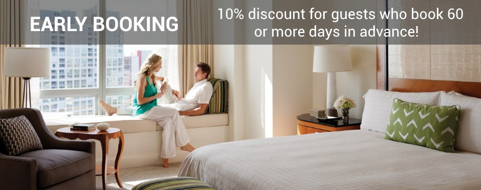 10% discount for guests who book 60 or more days in advance!