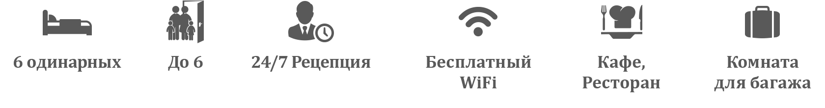 Квартира с 2 спальнями I Односпальные кровати